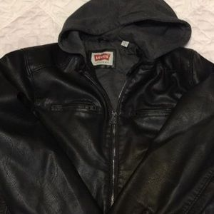 LEVI'S MENS LARGE FULLY LINED SOFT HOODED JACKET
